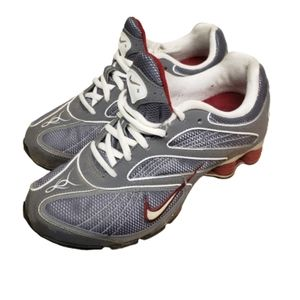 Nike athletic shoes 327031-011 wine white gray